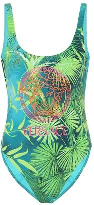 Versace Jungle-print swimsuit