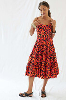 Thumbnail for your product : Leopard Tiered Midi Dress By Geisha Designs in Assorted Size XL