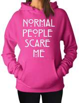 YM Wear Normal People Scare Me Women's Hoodie Hooded Sweater 2X-Large