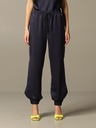 Armani Collezioni Armani Exchange Pants Armani Exchange Trousers In Satin With Side Slits