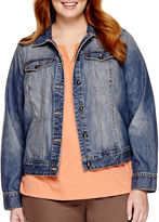 ST. JOHN'S BAY St. John's Bay Long-Sleeve Denim Jacket - Plus