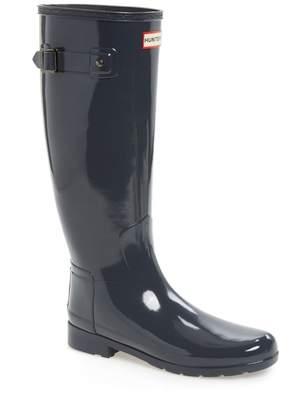 Hunter Refined High Gloss Waterproof Rain Boot