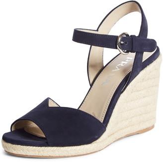 Prada Raffia Wedge Sandal