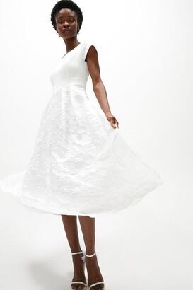 Coast Bardot Neck Embroidered Midi Dress