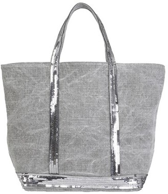 Vanessa Bruno Medium Linen and Sequins Cabas Tote Bag