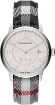 Burberry BU10002 40mm Stainless Steel Case Multicolor Cloth Mineral Men's Watch