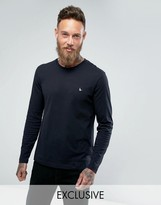 Jack Wills T-Shirt With Long Sleeves And Logo In Black Exclusive