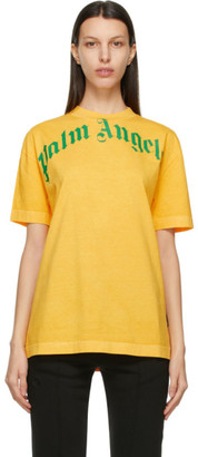 Palm Angels Yellow and Green Vintage T-Shirt