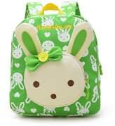 Greeniris 3D Cute Rabbit Backpack Kids School Bag Baby Girl Daypack for School/Kindergarten/Daily