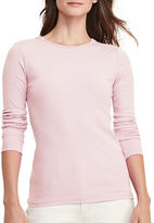 Lauren Ralph Lauren Petite Zip-Shoulder Cotton Tee