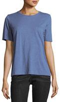Eileen Fisher Short-Sleeve Slubby Organic Jersey Top, Plus Size