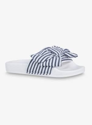 Tu Online Exclusive Mini Me Blue & White Stripe Sliders