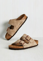 Strappy Camper Sandal in Tan Suede - Narrow in 37