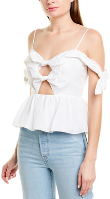 Rebecca Taylor Bow Silk-Blend Top