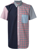 MAISON KITSUNÉ multi-print shortsleeved shirt