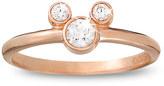 Disney Diamond Petite Icon Mickey Mouse Ring - 14K Rose Gold