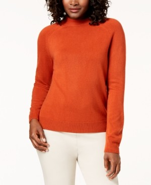 Karen Scott Zip-Back Mock-Neck Sweater, Created for Macy's