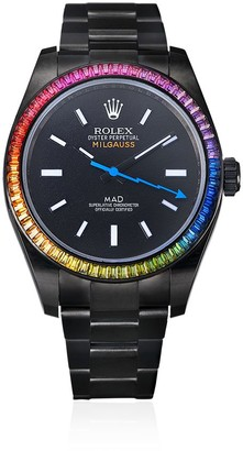 MAD Paris customised Rolex Milgauss Rainbow 35mm