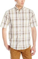 Wolverine Men's Petoskey Cotton Poplin Short Sleeve Plaid Shirt