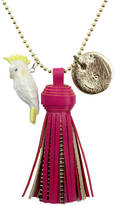 Undercover Personalised Cockatoo Charm Necklace And Tassel