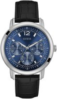 GUESS Blue, Black and Silver-Tone Modern Dress Watch