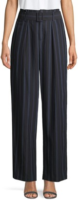 Vince Belted Striped Pants