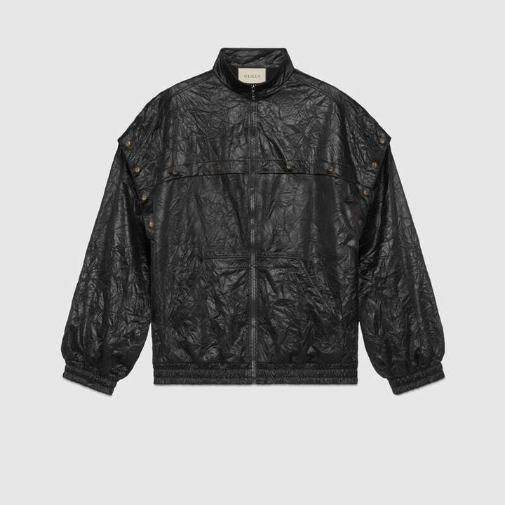 a96b3e710e7a Gucci Leather Jacket Men - ShopStyle(ショップスタイル)