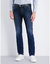 Etro Paisley-print Slim-fit Tapered Jeans