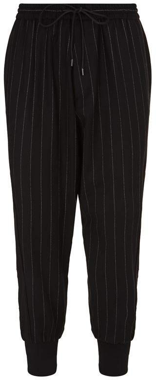 Juun.J Cuffed Pinstripe Trousers