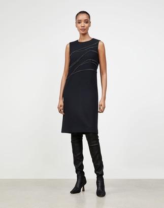 Lafayette 148 New York Plus-Size Nouveau Crepe Embellished Polly Dress