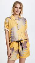 Double Rainbouu Short Sleeve Hawaiian Cover Up Shirt