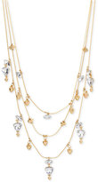 INC International Concepts M. Haskell for Gold-Tone Crystal Triple Strand Necklace, Only at Macy's