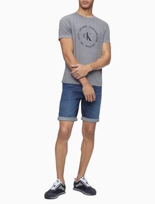 Calvin Klein Straight Fit Miami Blue Denim Shorts