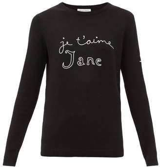 Bella Freud Je T'aime Jane Merino Wool Sweater - Womens - Black