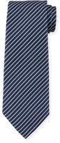 Armani Collezioni Herringbone-Stripe Silk Tie