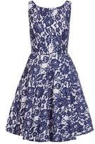 Quiz Navy And White Lace Skater Dress