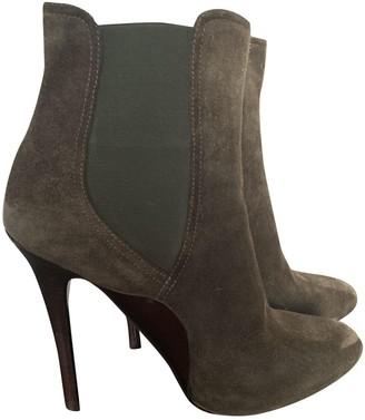 Ralph Lauren \N Khaki Suede Ankle boots