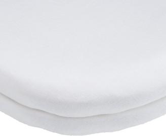 John Lewis & Partners GOTS Organic Cotton Fitted Pram/Crib Sheet, Pack of 2, White