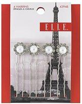 Elle 4 Piece Rhinestone and Pearl Hair Pins