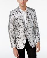 INC International Concepts Men's Slim-Fit Silver Foil Blazer, Only at Macy's