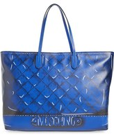 Moschino Shadow Print Leather Tote