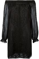 Ermanno Scervino off shoulder lace mini dress - women - Cotton - 40