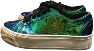 Loeffler Randall Turquoise Patent leather Trainers