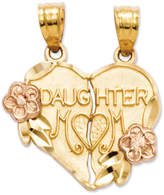 Macy's 14k Gold and 14k Rose Gold Charm, Break Apart Mother and Daughter Charm