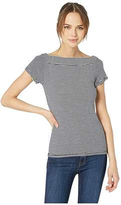 Free People Ahoy Tee Stripe (Navy) Women's T Shirt