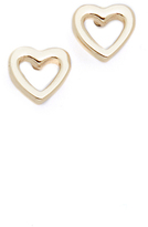 Shashi Heart Stud Earrings