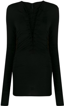 Unravel Project Lace-Up Long-Sleeve Top