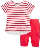 Splendid Infant Girls' Striped Peplum Top & Leggings Set - Sizes 3-24 Months