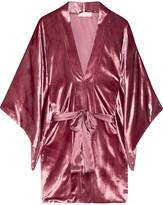 Fleur Du Mal Velvet Kimono - Plum