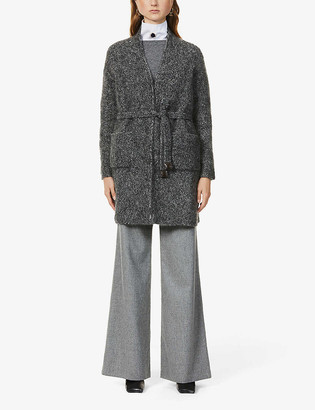 S Max Mara Vortice belted knitted cardigan